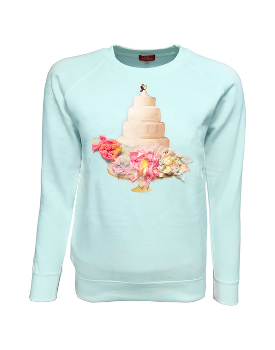 Romance Light Cyan Sweater