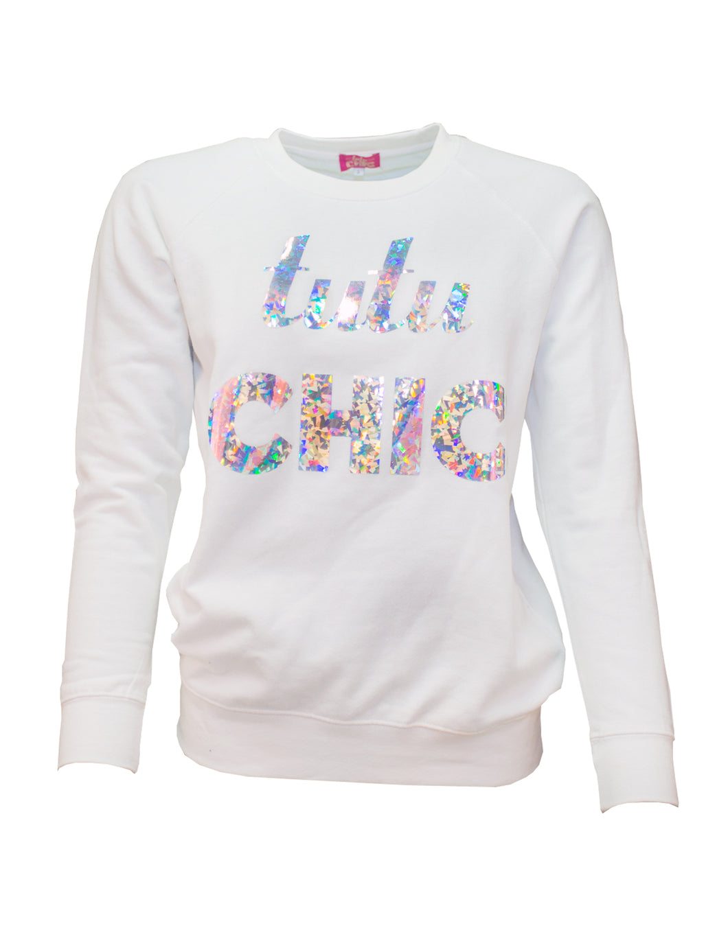 Tutu Chic White Crystal Sweater
