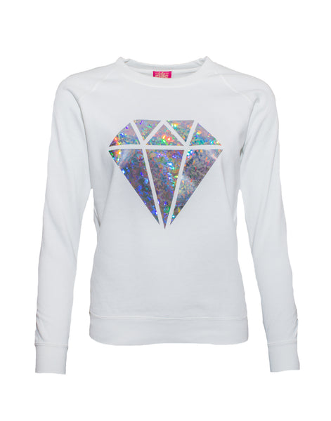 Diamond Sweater White