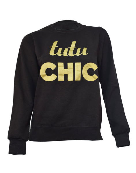 Tutu Chic Sweater Black/Gold