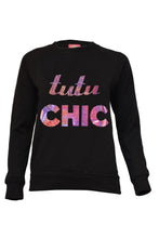 Tutu Chic Sweater Black/Holographic
