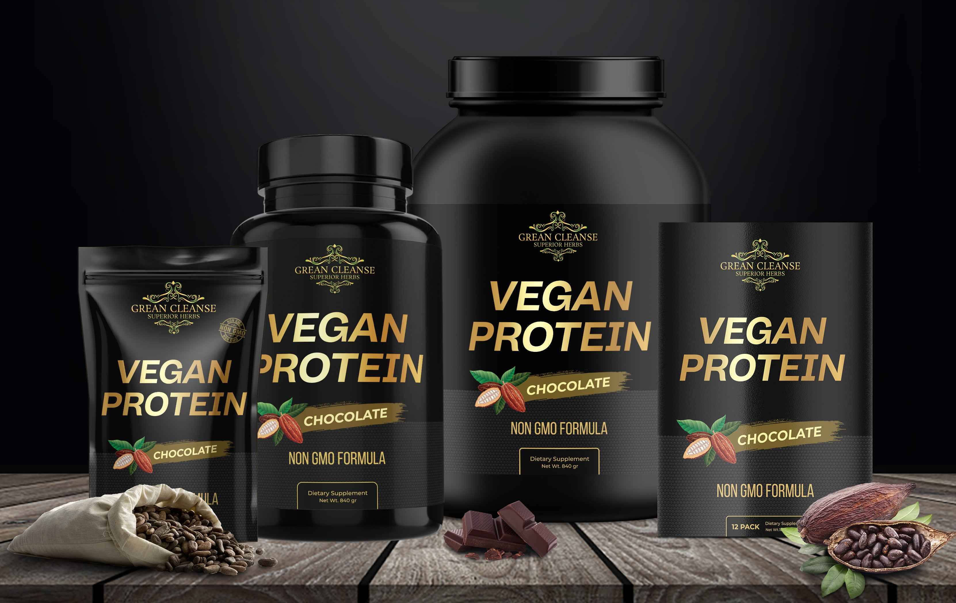Grean Cleanse Vegan Protein - Chocolate