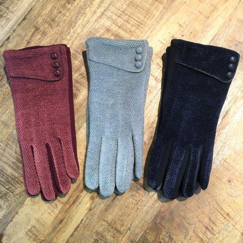 Warm Chenille Texting Gloves