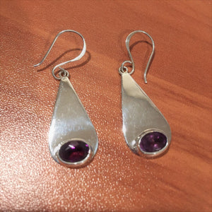 Sterling Birthstone Earrings
