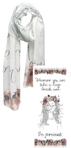 Mantra Graphic Message Scarf