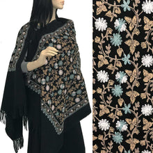 Load image into Gallery viewer, Embroidered Cashmere Feel Shawl