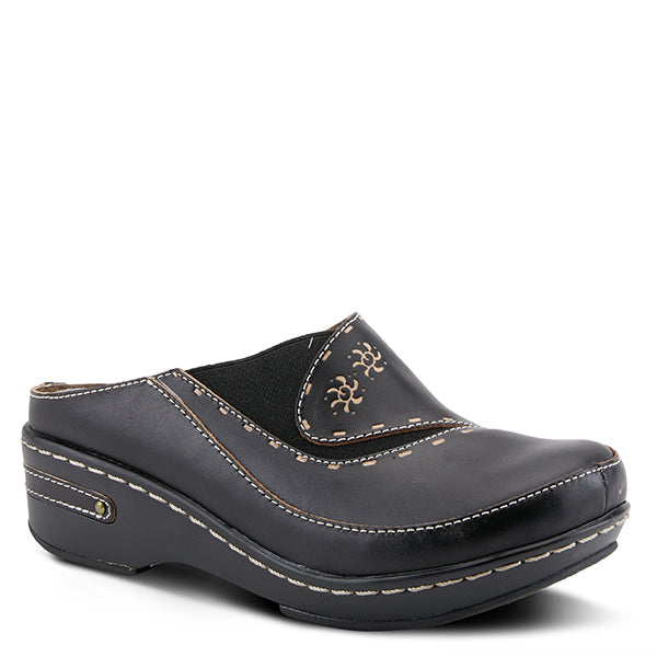 Chino Leather Clog - Black
