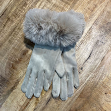 Load image into Gallery viewer, Elegant Faux Fur Trim Gloves