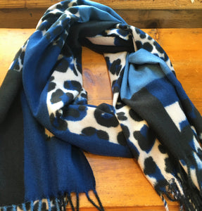 Leopard Color Block Stole