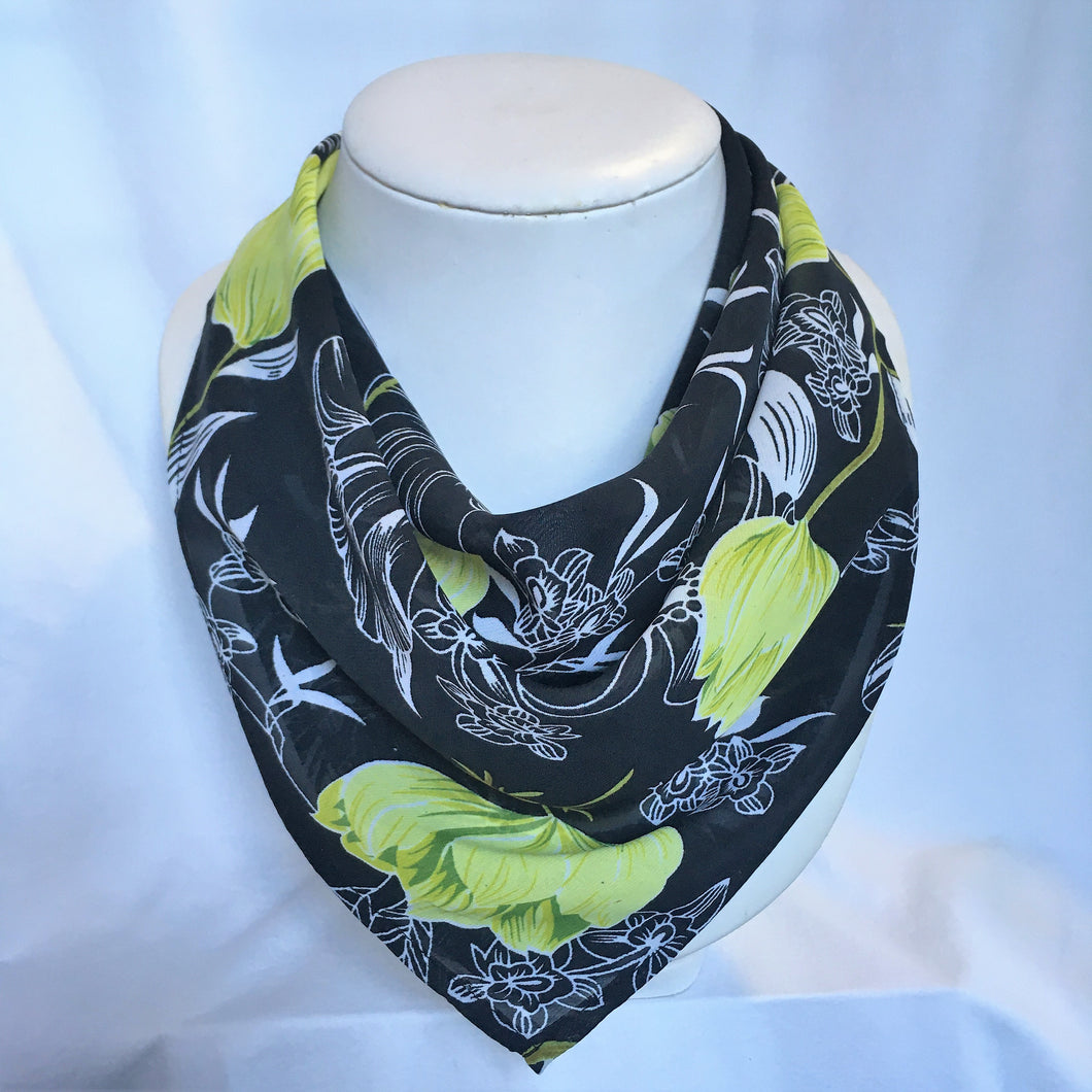 Chiffon Magnetic Scarf - Square