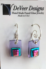 Load image into Gallery viewer, DeVeer Fused Glass Earrings