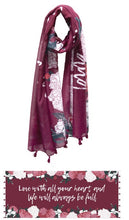 Load image into Gallery viewer, Mantra Graphic Message Scarf