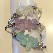 Load image into Gallery viewer, Sea Glass Silver Wrap Bracelet