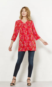 Happy Red Tunic Top