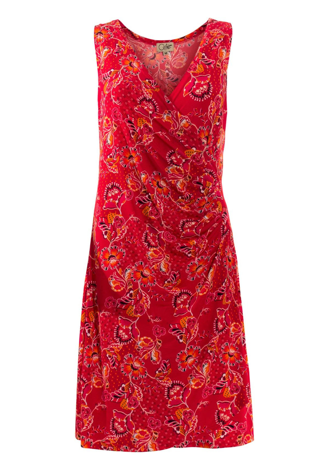 Ruched Waist Floral Dress