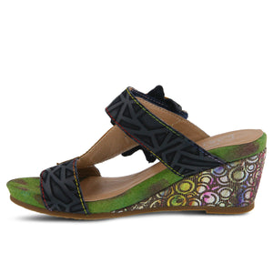 Shayla Floral Wedge Sandals