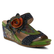 Load image into Gallery viewer, Shayla Floral Wedge Sandals