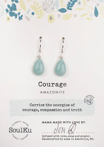 Soulku Short Sterling & Stone Earring