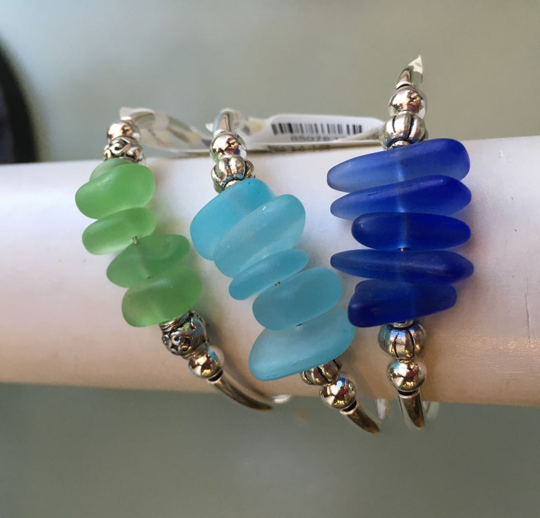 Sea Glass Coil Bracelet
