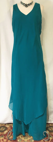 Simply Silk V-Neck Long Dress