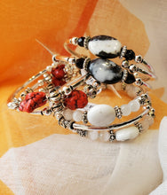 Load image into Gallery viewer, Semi-Precious Stone Coil Bracelet