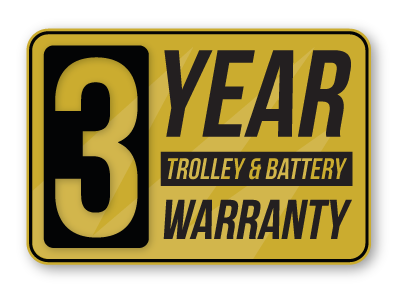 electric golf trolley lithium battery warranty
