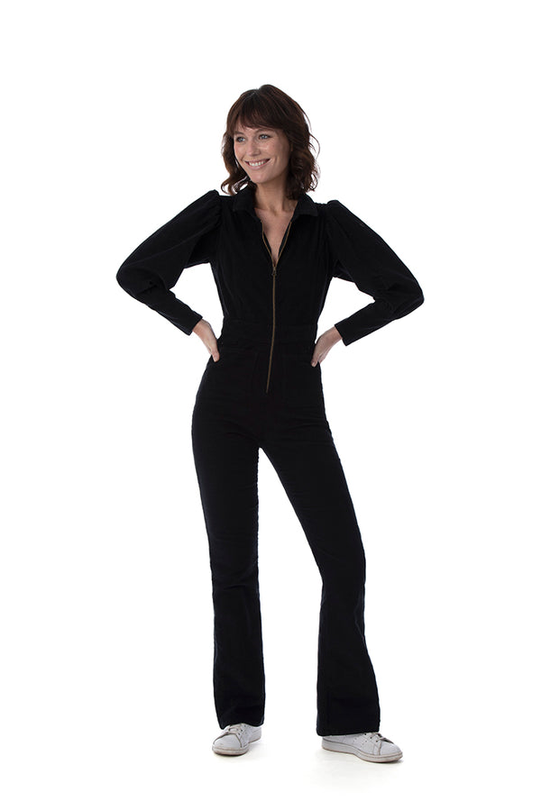 BONNIE Black Cord Jumpsuit - Rock The Jumpsuit
