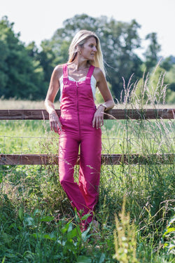 60s RED DUNGAREES - Rock The Jumpsuit