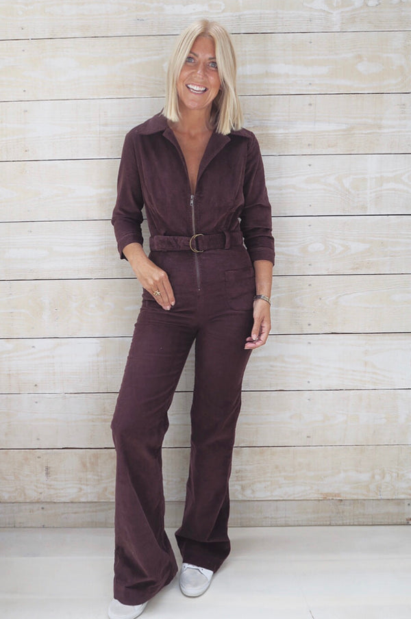JONI Brown Cord Jumpsuit - Rock The Jumpsuit