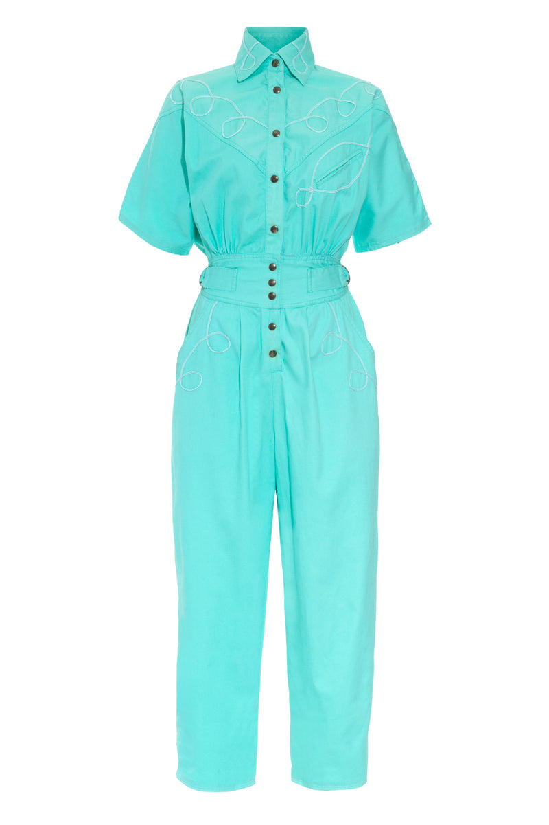 80s BLUE BOILERSUIT - Rock The Jumpsuit