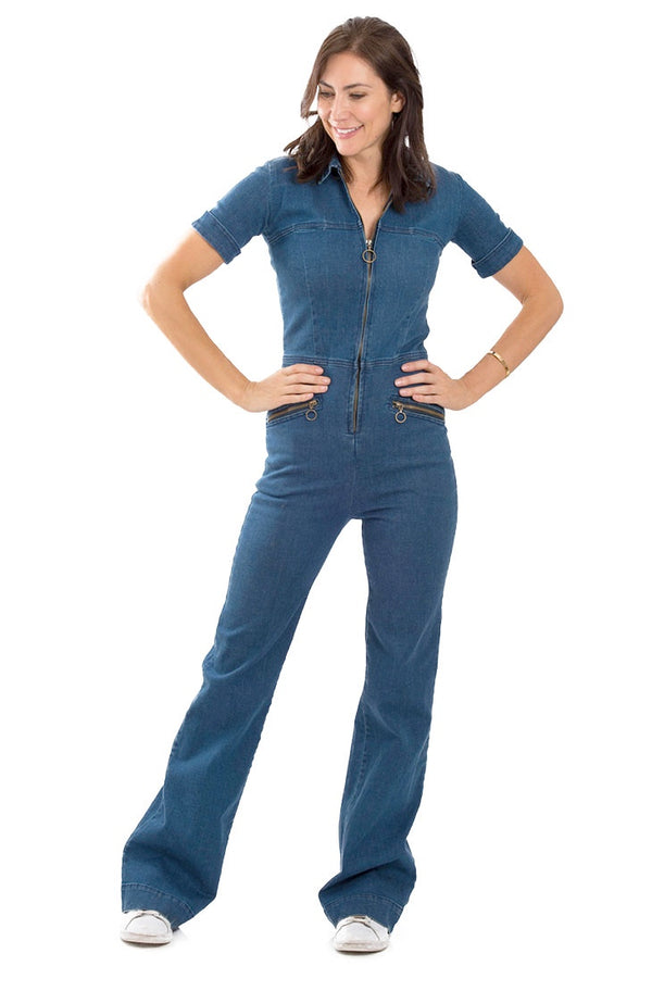 RUBY 70s Denim Jumpsuit - Rock The Jumpsuit