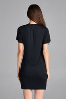 Women's Sexy Off Shoulder Mini Dress Short Sleeves
