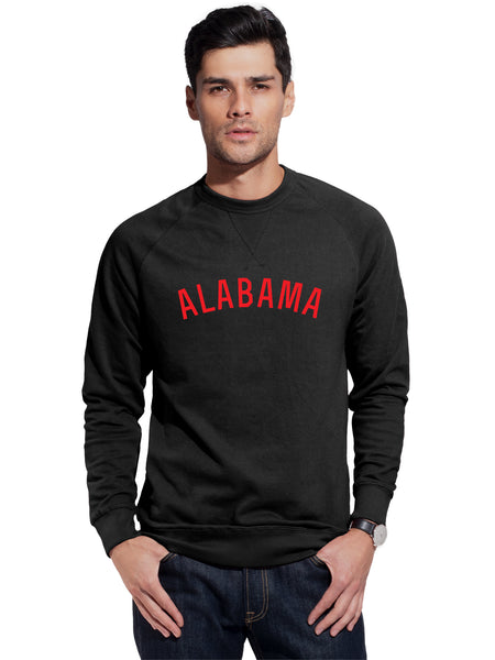 Daxton Alabama Sweatshirt Athletic Fit Pullover Crewneck French Terry Sweatshirt
