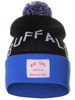 American Cities Buffalo New York Arch Letters Pom Pom Knit Hat Cap Beanie