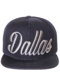 American Cities Snapback USA Script Flat Bill Adjustable Back Cap