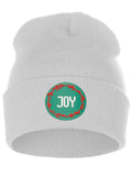I&W Holiday Christmas Beanie Joy  Winter Knit Cuffed Beanie Hat