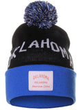 American Cities Oklahoma Arch Letters Pom Pom Knit Hat Cap Beanie