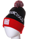American Cities San Francisco Arch Letters Pom Pom Knit Hat Cap Beanie