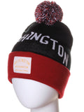 American Cities Washington DC Arch Letters Pom Pom Knit Hat Cap Beanie