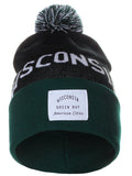 American Cities Wisconsin Green Bay Arch Letters Pom Pom Knit Hat Cap Beanie