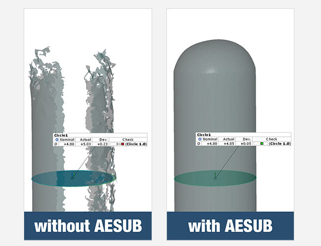 AESUB Spray with and without