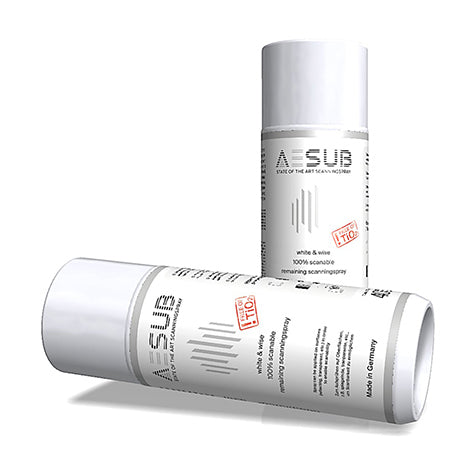 Aesub White Permanent 3D Scanning Spray: Free of TiO2
