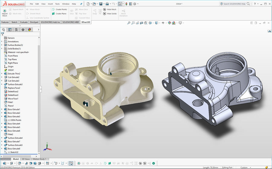 Xtract3D Add-in for SOLIDWORKS