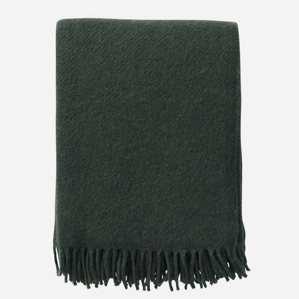 Gotland Green Woven Wool Throw - Artysan