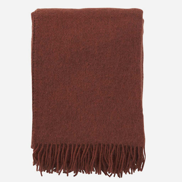 Gotland Rust Woven Wool Throw - Artysan