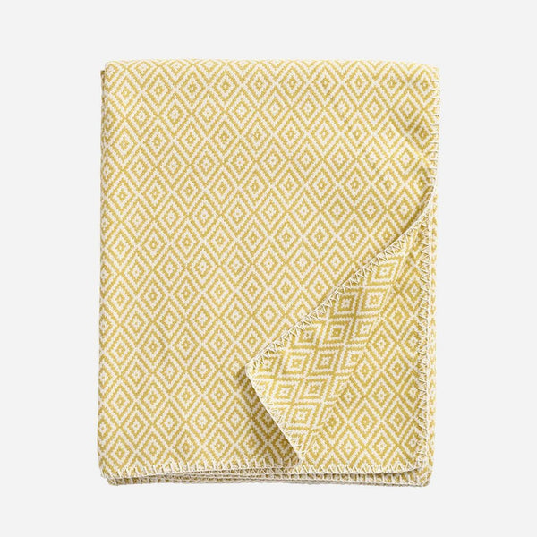 Stella Yellow Woven Cotton Blanket - Artysan