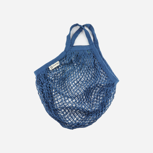 Blue Organic Short Handled String Bag - Artysan