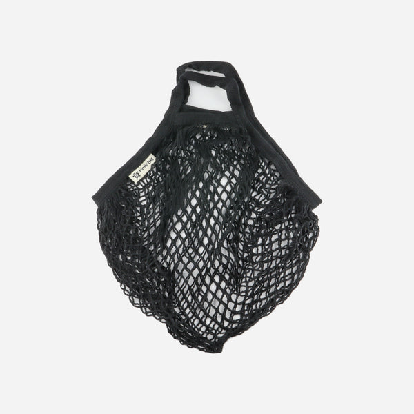 Black Organic Short Handled String Bag - Artysan