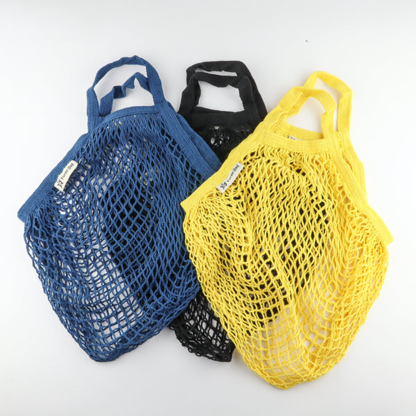 Yellow Organic Short Handled String Bag - Artysan