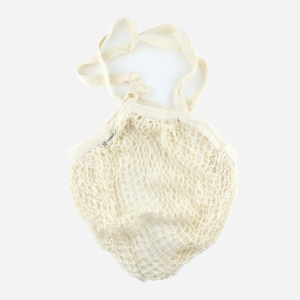 Beige Organic Long Handled String Bag - Artysan